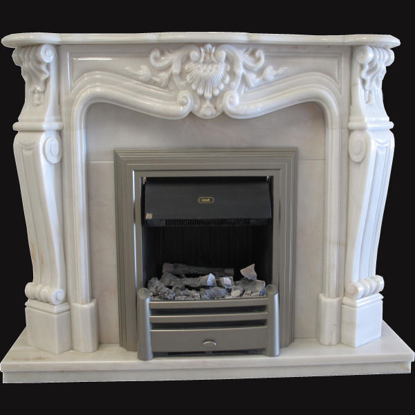 Versailles fireplace in portuguese Estremoz light marble ...