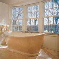 Marble bathroom pavings, claddings, sinks, shower trays and bath tubs .