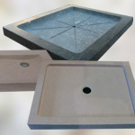Shower Trays, solid pieces made out of marble, granite or limestone
