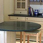 Kitchen worktops made out of marble, granite or limestone