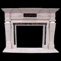 Hand-carved fireplace surrounds in marble, granite or limestone.