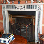 Georgian marble fireplaces, hand-carved pieces, cut to size .