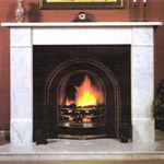 Contemporary marble fireplaces, hand-carved pieces