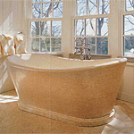 Bath tubs, solid pieces made out of marble, granite or limestone