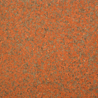 African Red granite, polished finish.