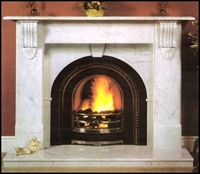 The Large Victorian fireplace in estremoz marble