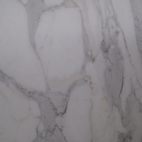 Calacata marble, honed finish .