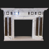 The Newark fireplace in white stattuary & gris pulpis marble