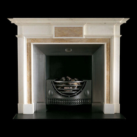 The Cork fireplace surround in creme marfil marble
