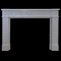 Nice Fireplace in white sivec marble