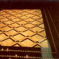 Paving inlaid with yellow sienna and belgian black marble