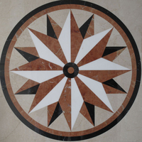Center piece, inlaid marble star