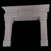 The Skerries fireplace in moleanos limestone
