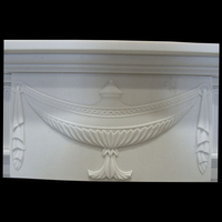 Adam Fireplace centre tablet in white sivec marble