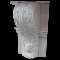 Old carved corbel in white sivec marble