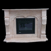 The Bourgogne fireplace in rosa portugal, polished finish.