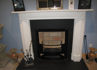 The Merrion fireplace in white sivec marble