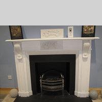 The Fitzwilliam fireplace in white sivec marble