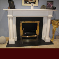 The Raglan fireplace in white sivec marble