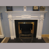 The Shelbourne fireplace in white sivec marble