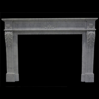 The Mont Blanc fireplace in carrara marble
