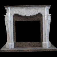 Versailles fireplace in estremoz and emperador marble, polished