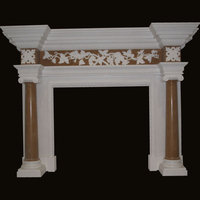 The Grimsby fireplace in white sivec & antiqued yellow marble