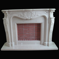 Versailles fireplace in portuguese Lioz cream marble