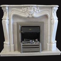 Versailles fireplace in portuguese Estremoz light marble