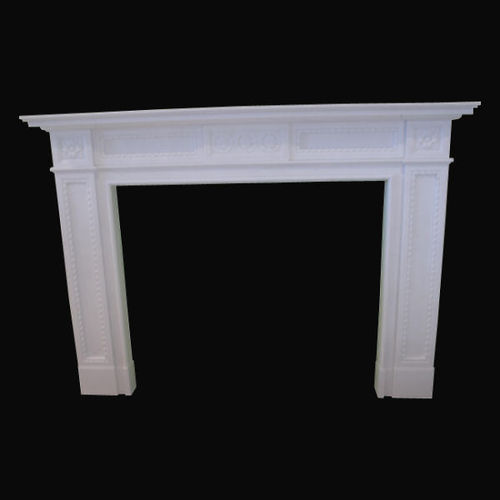 The Regent English fireplace in white sivec marble