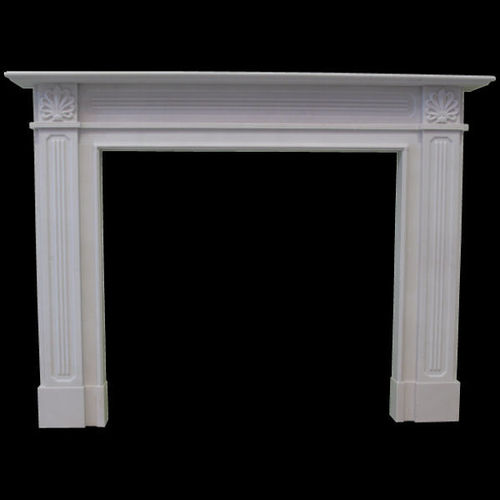 The Reeded Regency fireplace in white sivec marble