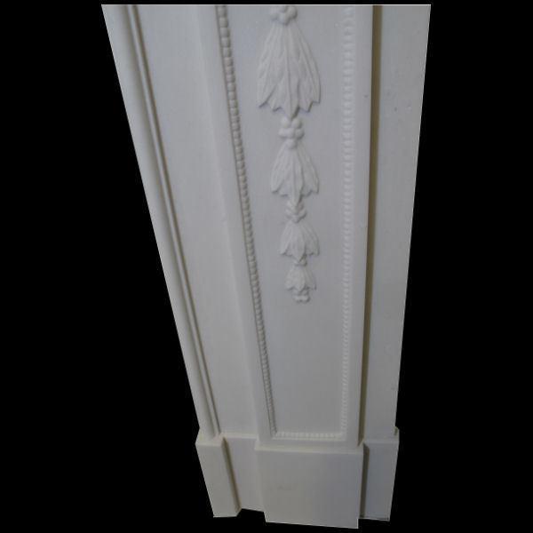 kamin georgian in weiss sivec marmor neu. Black Bedroom Furniture Sets. Home Design Ideas