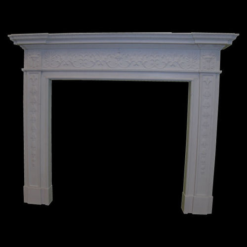 The Georgian fireplace in white sivec marble