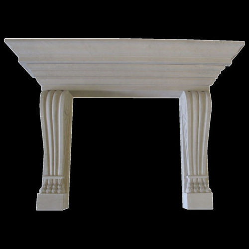 Lille Fireplace in portuguese limestone, honed finish.