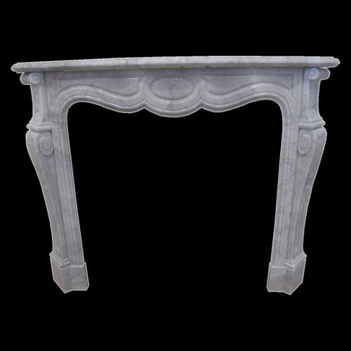 Versailles fireplace in white carrara marble