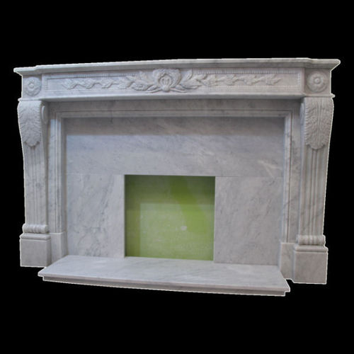 The Drancy fireplace in carrara marble