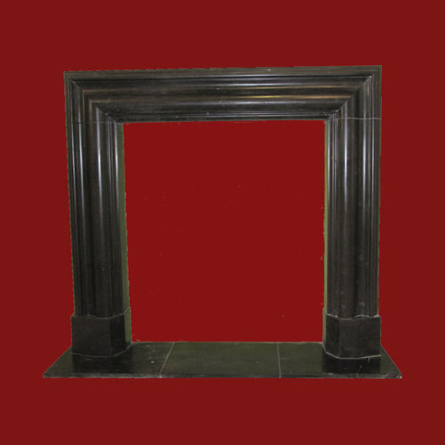 The Bolection mould fireplace in nero marquina marble