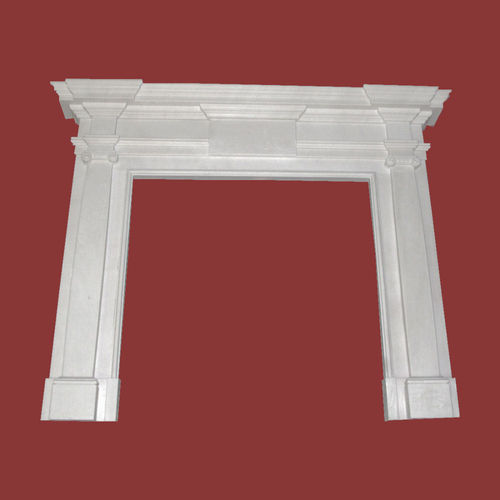 The Surrey English fireplace in white sivec marble