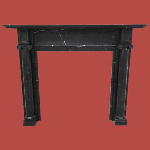 The Adam fireplace in black marble, honed finish