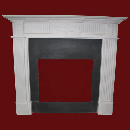 The Adam fireplace in white sivec marble, honed finish